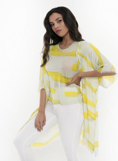 Silk and Cashmere Hırka Sarı